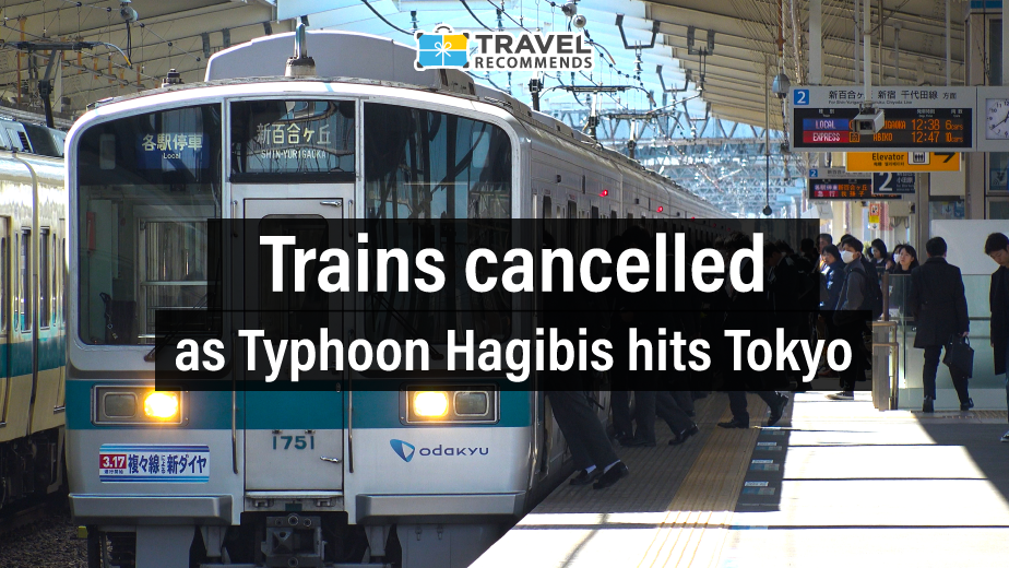 Trains cancelled as Typhoon Hagibis hits Tokyo