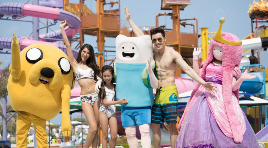 Cartoon Network Amazone Water Park characters adventure time