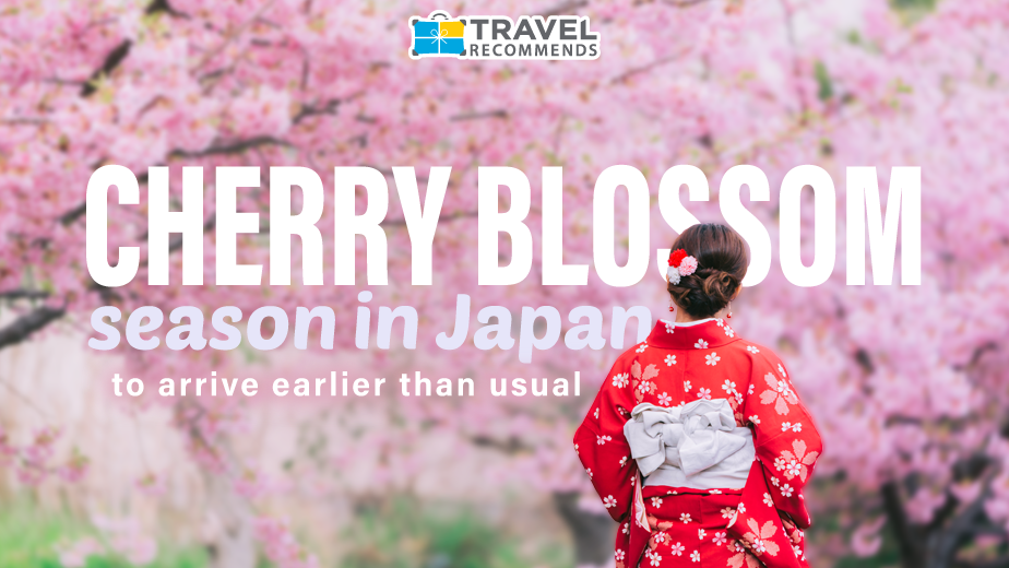 Cherry Blossom Season in Japan to Arrive Earlier than Usual