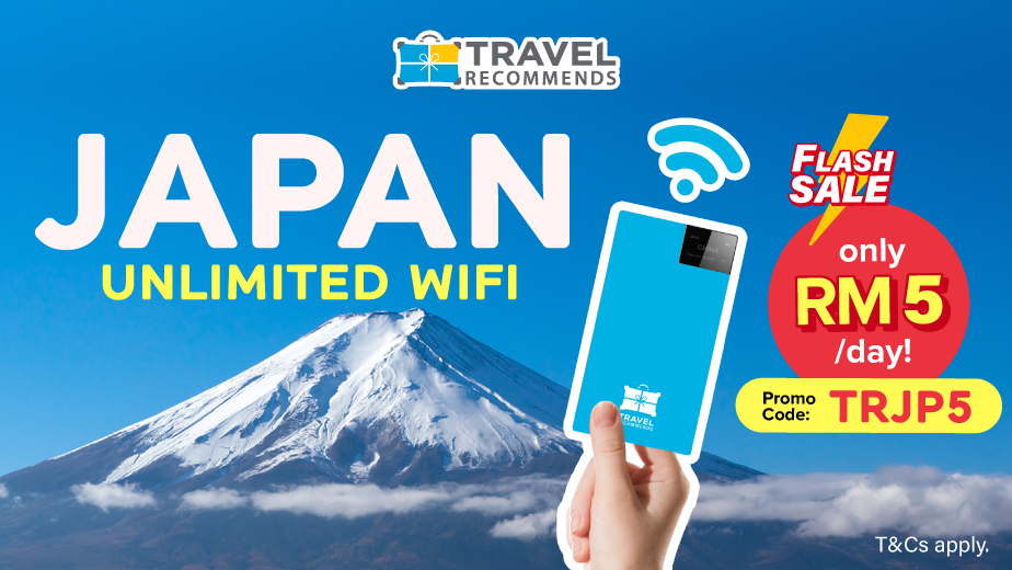 [FLASH SALE] Japan Travel WiFi at RM5/day!