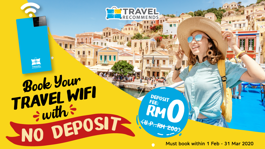FREE Deposit for Travel WiFi to ALL Countries!