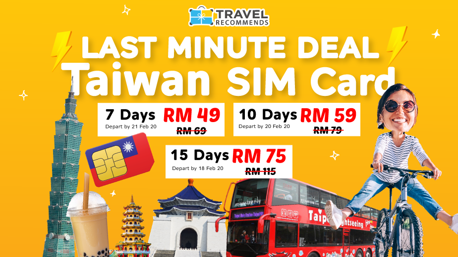FLASH DEAL: Taiwan SIM Cards from ONLY RM 49