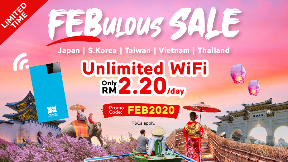Travel WiFi at ONLY RM 2.20/day