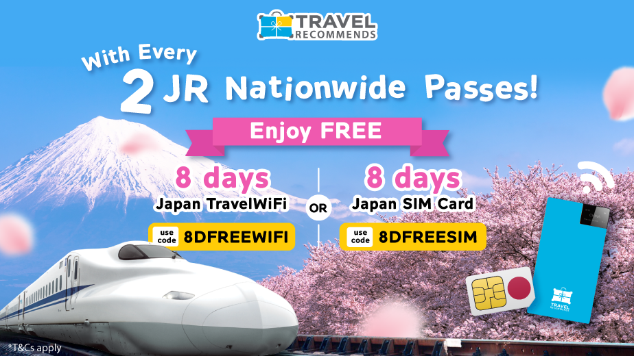 FREE 8 Days Japan Travel WiFi or SIM Card!