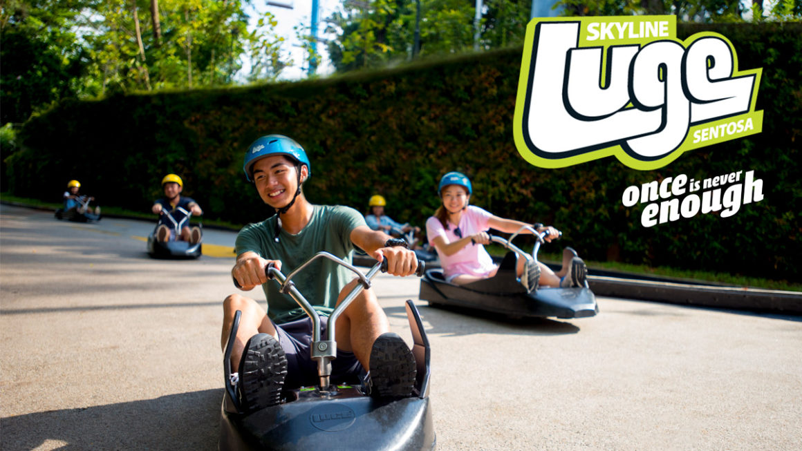 Race down Skyline Luge Sentosa in Singapore