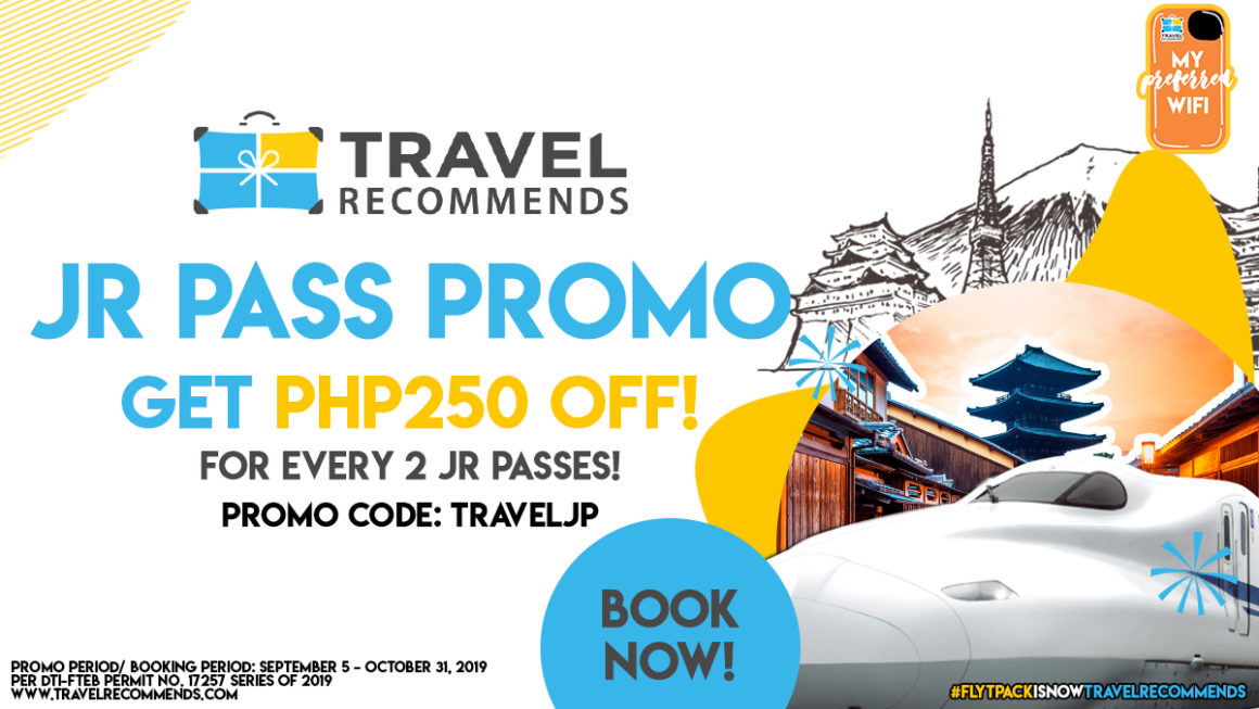 GET P250 OFF ON YOUR JR PASS TICKETS!