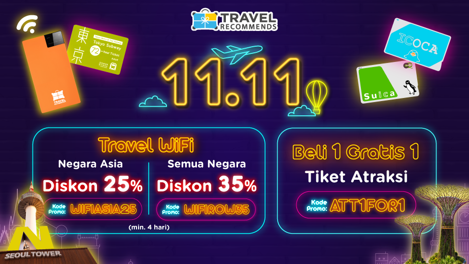 Travel Recommends 11.11 PROMO